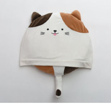Picture of JD Cat Faced Sleeping Bag for Pet, White & Brown