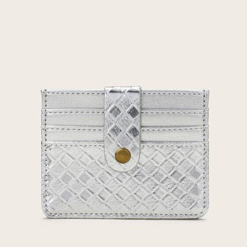 Picture of JD Woven Pattern PU Coin Purse with Card Holder - QB0300, Silver