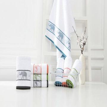 Picture of JD Jacquard Border Towel, White