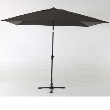 Picture of JD Center Pole Patio Rectangular Umbrella, Brown