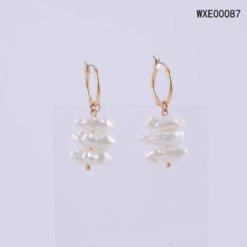 Picture of JD Hoop Earrings - WXE00087, White & Gold