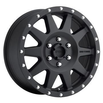 Picture of Standard Street 300 Series Wheels, 17x7.5inch, Matte Black - Set of 4 Pcs