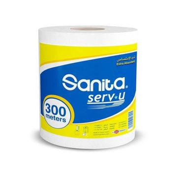 Picture of Sanita Serv-U Embossed Maxi Tissue Roll, 300m - Carton Of 6 Packs