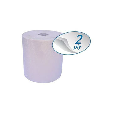 Picture of Sanita Serv-U Auto Cut 2-Ply Tissue Rolls, 120m - Carton Of 6 Rolls