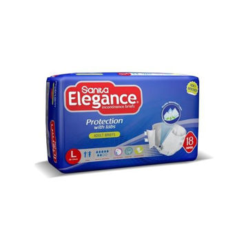 Picture of Sanita Elegance Adult Diapers, Large - Carton Of 36 Pcs