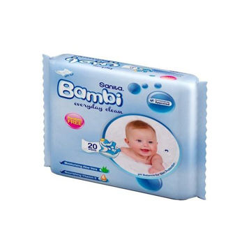 Picture of Sanita Bambi Everyday Clean Baby Wet Wipes - Carton Of 24 Packs