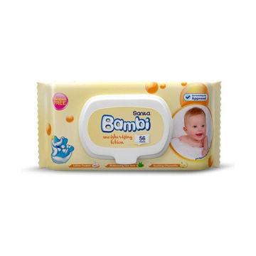 Picture of Sanita Bambi Moisturizing Lotion Baby Wet Wipes - Carton Of 12 Packs