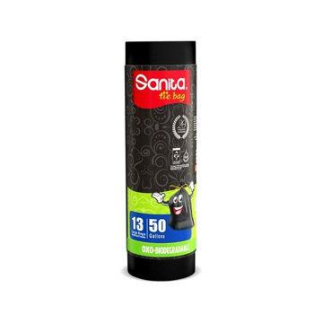Picture of Sanita Biodegradable Garbage Tie Bags, 50 Gallons - Carton Of 15 Pcs