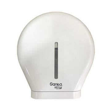 Picture of Sanita Serv-U Toilet Tissue Roll Dispenser, White