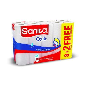 Picture of Sanita Club Kitchen Towel, 10 Rolls - Carton Of 3 Packs