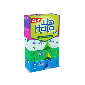 Picture of Hala Facial Tissues, 150 Sheets - Carton Of 6 Packs