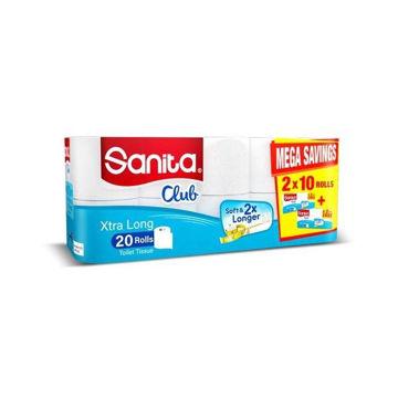 Picture of Sanita Club Toilet Paper, 20 Rolls - Carton Of 3 Packs