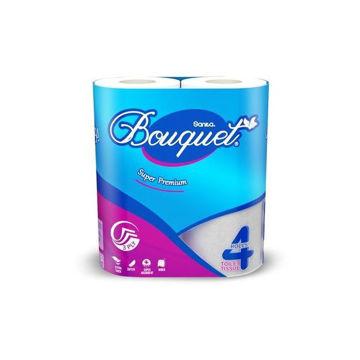 Picture of Sanita Bouquet Toilet Paper, Pack of 4 - Carton Of 48 Pcs