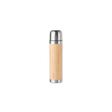 Picture of MTC Thermal Cover with Steel Cap Bamboo Flask
