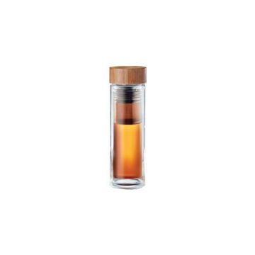 Picture of MTC Glass & Bamboo Flask with Tea Infuser