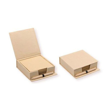 Picture of MTC Recycled Pad Holder with Pencil - Light Brown