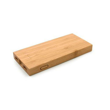Picture of MTC Bamboo Wireless Powerbank - Light Brown
