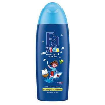 Picture of Fa Kids Pirate Wild Ocean Shower Gel and Shampoo, 250ml - Carton of 12