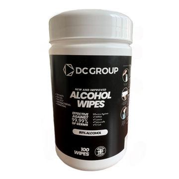 Picture of DC Group Cannister Tub Isopropyl Wipes, 100 Wipes - Carton Of 8 Packs
