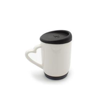 Picture of MTC White Ceramic Mug, 325ml - Silicone Cap & Base