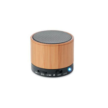 Picture of MTC Bamboo Bluetooth Speaker - Brown