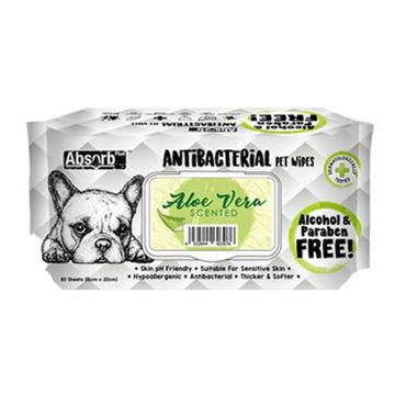 Picture of Absolute Pet Absorb Plus Antibacterial Aloe Vera Pet Wipes- Carton of 12 Packs