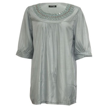 Picture of Women's Mid Sleeve Loose Fit Shimmery Blouse - Carton of 24 Pcs