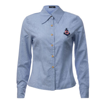Picture of Women's Long Sleeve Anchor Striped Formal Shirt - Carton of 24 Pcs