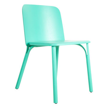 Picture of TON Solid Ash Wood Frame Split Chair, Turquoise Green
