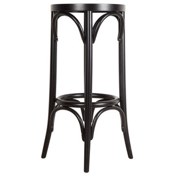 Picture of TON Solid Beech Wood Frame Barstool, Black