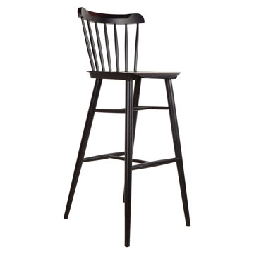 Picture of TON Solid Beech Wood Frame Ironica Barstool, Black