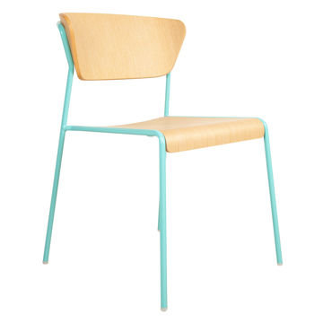 Picture of Montalbano Wooden Lisa Chair with Metal Legs