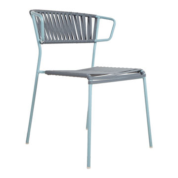 Picture of Montalbano Lisa Club Rope Chair with Metal Legs