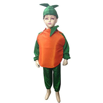 Picture of Orange Fruit Fancydress Costume For Kids (8-10 YRS)