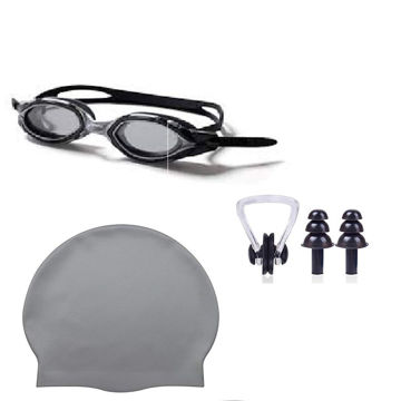 Picture of N.U.W.A Swimming Kit Combo 4 in 1 - Nose Plug, Ear Clip, Silicon Cap and Goggles.
