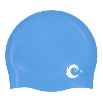 Picture of N.U.W.A Solid Silicone Swim Cap, Comfortable Fit Swim Caps Swimming Cap for Men Women Adults Youths, Ergonomic Design