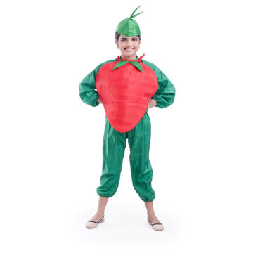 Picture of Fancy Dess Wale Fruit Theme T-Shirt for Kids Fancy Dress Costumes Strawberry (10-12yrs)