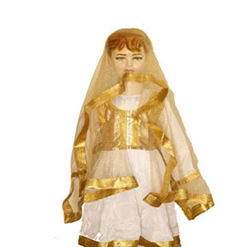 Picture of Fancy Dess Wale Kid's Kathak Dress (White, 9-10 Years)