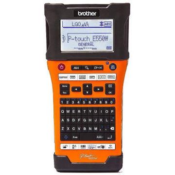 Picture of Brother Industrial Label Printer - PTE550WVP, Orange & Black