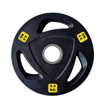 Picture of 1441 Fitness Tri-Grip Olympic Rubber Plates, 2.5 Kg - Box Of 4 Pcs