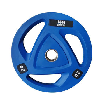 Picture of 1441 Fitness Tri-Grip Olympic Rubber Plates, Blue, 20 Kg