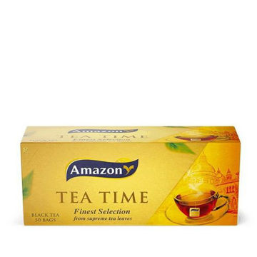 Picture of Amazon Tea Time Black Tea Bags, 5g, Pack of 50 - Carton of 36 Pack
