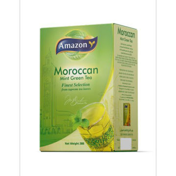 Picture of Amazon Morocan Mint Green Tea Powder - 200 g, Carton of 20 Pack