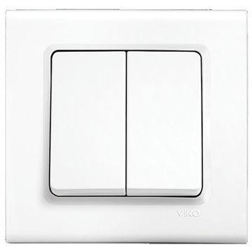 Picture of Viko by Panasonic 2-Gang 1-Way Linnera Switch - Box of 15 Pcs