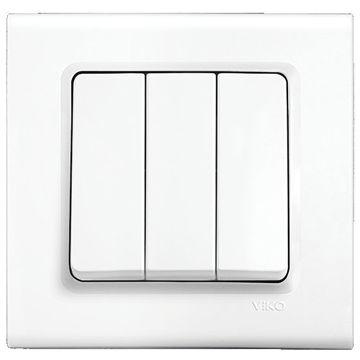 Picture of Viko by Panasonic 3-Gang 1-Way Linnera Switch - Box of 12 Pcs
