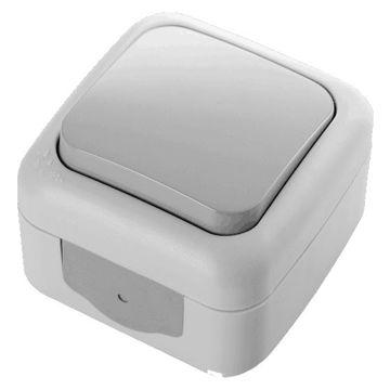 Picture of Viko by Panasonic 1-Gang 1-Way Palmiye Switch, Grey - Box of 10 Pcs